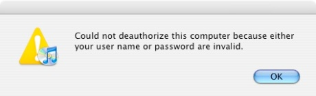 Audible User Name or Password Error