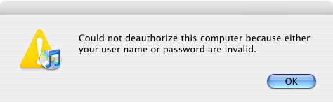 Audible User Name or PasswordError